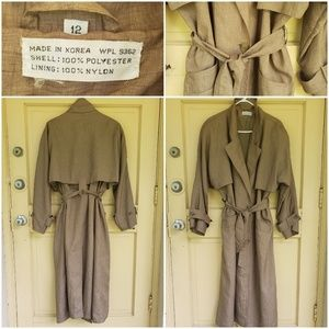 Vintage Polyester Trench Coat